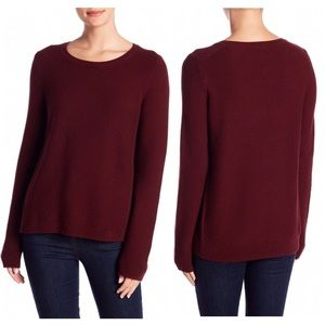 Madewell Maroon Riverside Textured Sweater Size XS